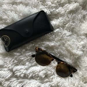 Authentic Ray Bans Leopard print club masters